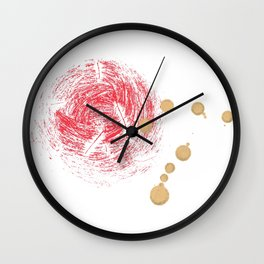 Red & Gold Wall Clock
