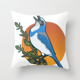 Florida scrub-jay Throw Pillow