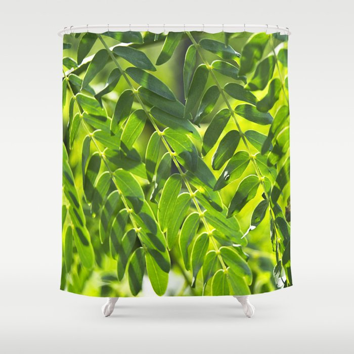 Sunny Leaves Shower Curtain