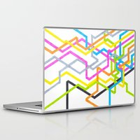 90s Laptop & iPad Skins featuring Neon 90s Metro by Abstract Graph Designs