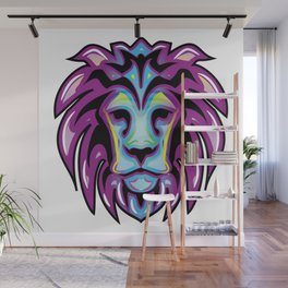 Leon colores pop neon Wall Mural