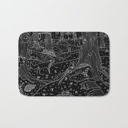 Nocturnal Animals of the Forest Bath Mat