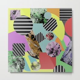 Geometric Chaos Metal Print