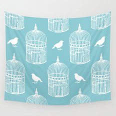 Bird Cage Pattern. Wall Tapestry