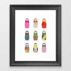 Russian Dollz Framed Art Print