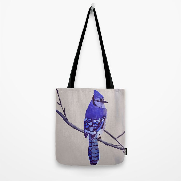 Blue Jay Bird Tote Bag