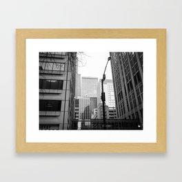 Stacked Buildings Framed Art Print