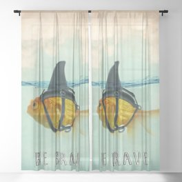 Be Brave - Brilliant Disguise Sheer Curtain