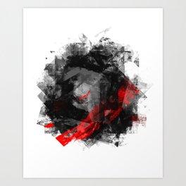 Black Rose Art Print