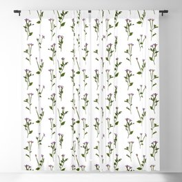 PRESSED FLOWERS - Chickweed Willowherb Blackout Curtain