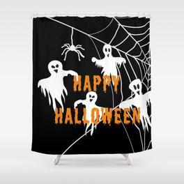 Monsters Happy Halloween Shower Curtain