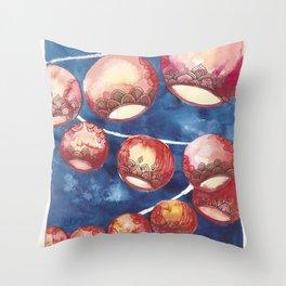 Chinese Lanterns Throw Pillow