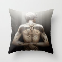 Cas - Tattoos Throw Pillow