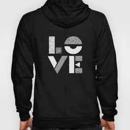 Love black and white contemporary minimalist typography design home wall decor bedroom Hoody