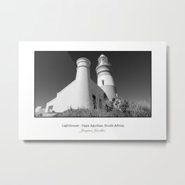 Lighthouse in Cape Agulhas Metal Print