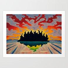 Totem Island Art Print