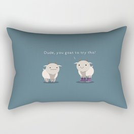 You goat to try this Rectangular Pillow