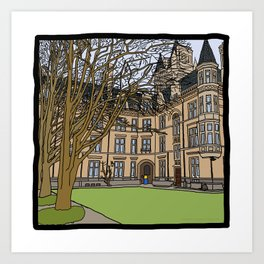 Cambridge struggles: Gonville and Caius College Art Print