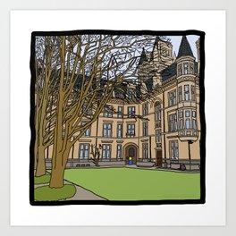 Cambridge struggles: Gonville and Caius College Art Print