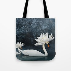 Tribal Swans Tote Bag