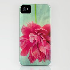 Peony on Blue iPhone (4, 4s) Slim Case