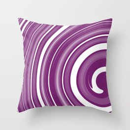 lollipop in white and purple Throw Pillow