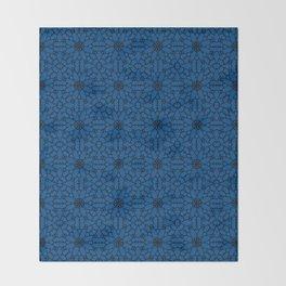 Lapis Blue Lace Throw Blanket