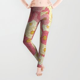 Graphic - Lady Peonies Leggings