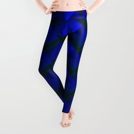 Abstract fish scales from blue braided squares with bright futuristic checkers.  Leggings