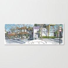 D Street Davis panorama Canvas Print