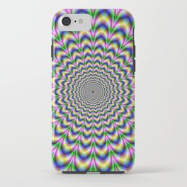 Crinkle Cut Psychedelic Pulse Alternative Color iPhone Case