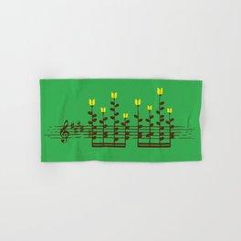 Music notes garden Hand & Bath Towel