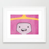 princess bubblegum Framed Art Prints featuring Princess Bubblegum by Some_Designs