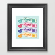 Some Toothpastes Framed Art Print