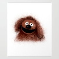 muppets Art Prints featuring Rowlf, The Muppets by KitschyPopShop