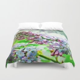 Lilacs In The Green Duvet Cover