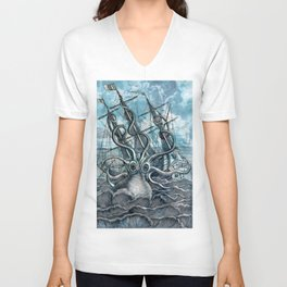 Sea Monster Unisex V-Neck