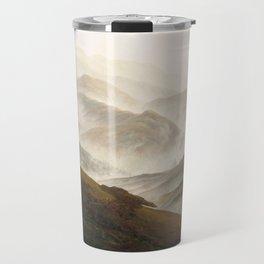 Mountain with Ascending Mist by Caspar David Friedrich Travel Mug