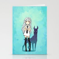 doberman Stationery Cards featuring Doberman by Freeminds