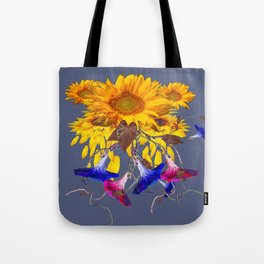 Grey Assorted Flowers Abstract Tote Bag