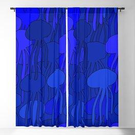 Jellyfish Blue Blackout Curtain