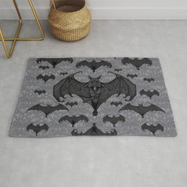 Balinese Bat - Haunted Mansion Damask Rug