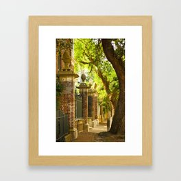Legare Street Walk Framed Art Print