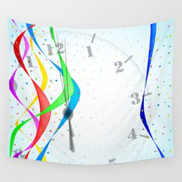 Midnight Celebration Wall Tapestry