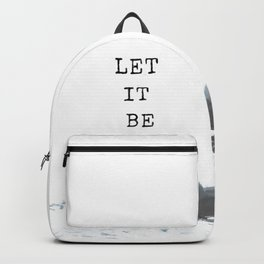 Let it be #quotes Backpack