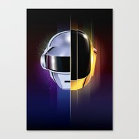 daft punk Canvas Prints featuring Daft Punk by Alevan