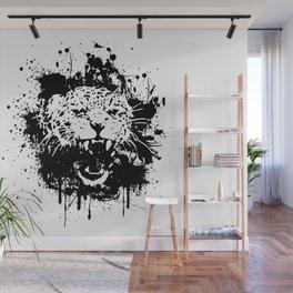 Roaring leopard Wall Mural