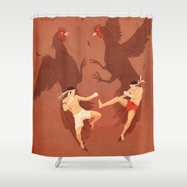 Thai Fighter Shower Curtain