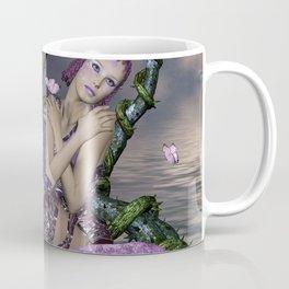 Wonderful fairy with fantasy bird Coffee Mug