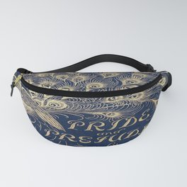 Pride and Prejudice, Peacock; Vintage Book Cover Fanny Pack